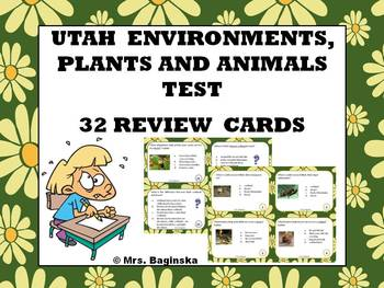 Utah environments, plants and animals: review and test pre