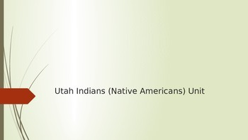 Utah's 5 Tribes (Native Americans)