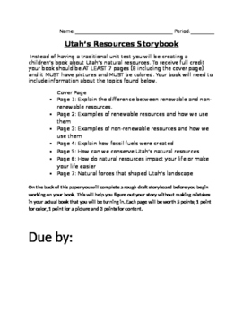 Utah's Natural Resources Storybook