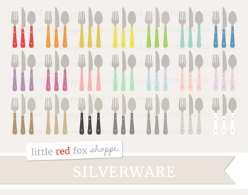 Utensil Clipart; Silverware