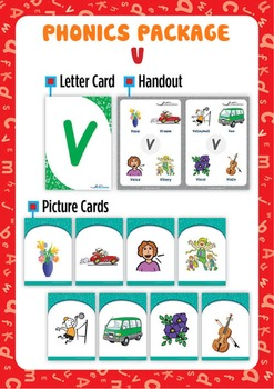 'V' Phonics Resource Package