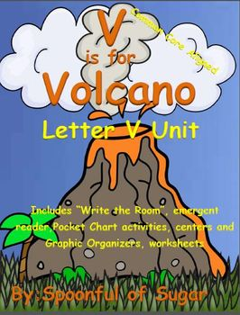 V is for Volcano (Letter V Unit)