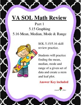 GRADE 5 MATH VIRGINIA SOL 5.15 GRAPHING, 5.16 MMMR REVIEW PT. 1