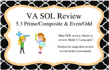 GRADE 5 MATH VIRGINIA SOL 5.3 PRIME/COMPOSITE & EVEN/ODD