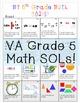 VA SOL Math Goals 3rd - 6th