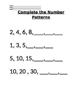 *VAAP* - 5th grade Math- Patterns