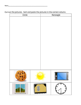 VAAP Science Classify Objects - Circles v Rectangle (Low L