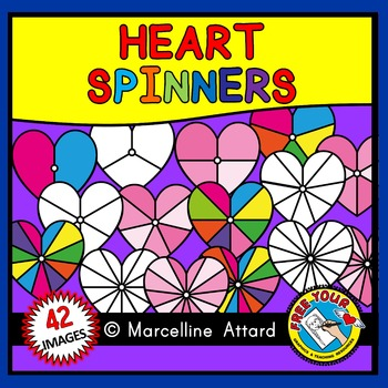VALENTINE CLIPART: HEART SPINNERS CLIPART
