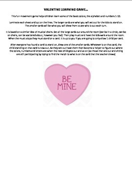 VALENTINE LEARNING GAME