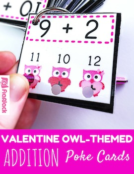 VALENTINE Owl ADDITION Facts Poke Game
