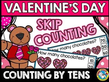 VALENTINE'S DAY KINDERGARTEN MATH ACTIVITIES(SKIP COUNTING