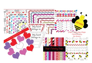 VALENTINE'S DAY BUNDLE!  Hearts!  Bees!  Love!  Letters!