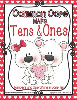 VALENTINE'S DAY TENS AND ONES MAT COUNTER N WORKSHEETS COM