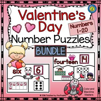 February Math - Valentine's Day Center {BUNDLE}