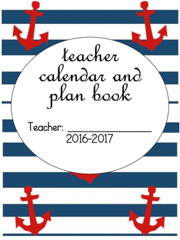 VB Schools Nautical Calendar and Plan Book