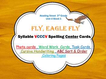 VCCCV Syllables Photo Center Cards Fly,Eagle, Fly, Reading