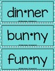 Funny Bunny: VCCV Words - Same Medial Consonants {Center,