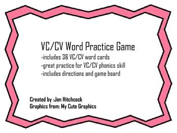VC/CV Phonics Practice Game
