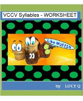VCCV Syllables - Worksheet