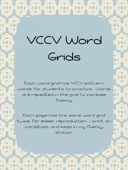 VCCV Word Grids
