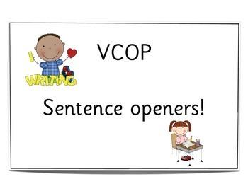 VCOP Sentence openers