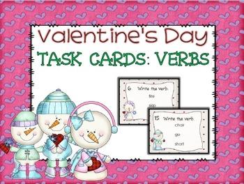 Valentine's Day Verb Task Cards