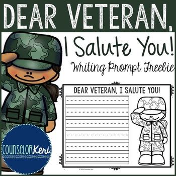 Veterans Day Writing Prompt - Elementary School - School C