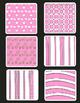 Valentines Flower Frames Clipart Plus a Set of  Freebie Paper
