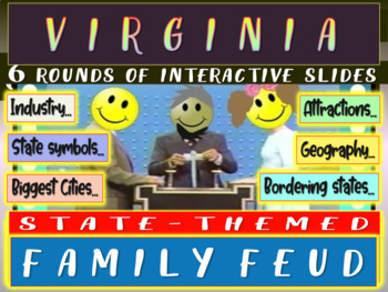 VIRGINIA FAMILY FEUD! Engaging game about cities, geograph