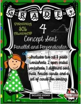 VIRGINIA SOL CONCEPT SORT GRADE 4 PARALLEL AND PERPENDICUL