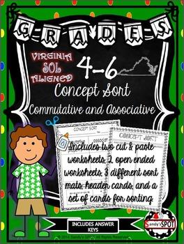 VIRGINIA SOL CONCEPT SORT GRADES 4-6 Commutative and Assoc