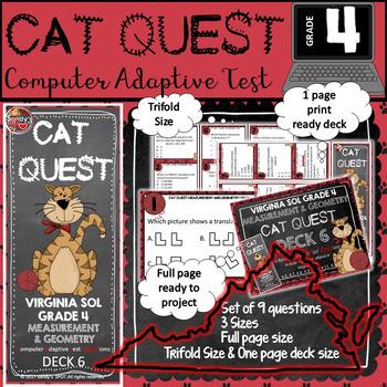 VIRGINIA SOL MATH Grade 4 CAT QUEST Cards MEASUREMENT AND