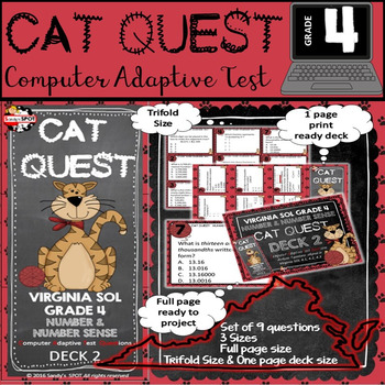 VIRGINIA SOL MATH Grade 4 CAT QUEST Cards Number and Numbe