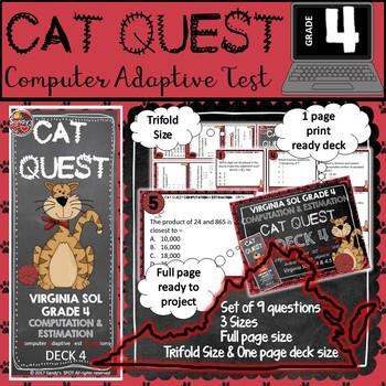 VIRGINIA SOL MATH Grade 4 DECK 4 CAT QUEST Computation and
