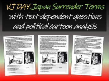 VJ Day - Japan Surrender Terms (text, guiding Qs, politica