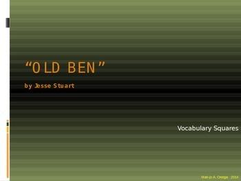 """VOCAB SQUARES: """"Old Ben"""""""