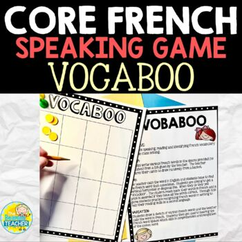 French Vocabulary Game for Middle School