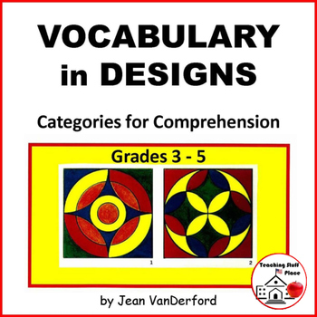 VOCABULARY WORKSHEETS| COLOR GEOMETRIC DESIGNS | Early Fin