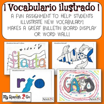 VOCABULARY:  Great idea to get students to illustrate vocabulary!