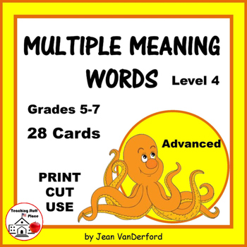 VOCABULARY | HOMOGRAPHS | Task Cards | Multiple Meanings W