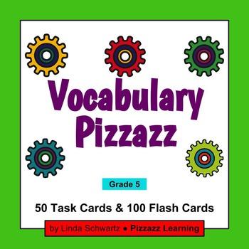 VOCABULARY PIZZAZZ TASK CARDS  • Grade 5