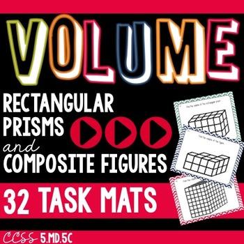 VOLUME of Rectangular Prisms and Composite Figure Task Mat