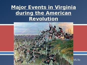 Virginia Studies VS.5C Major Events in VA during the Am. R