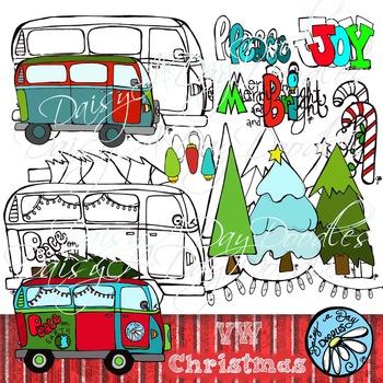 VW Color & Line Art Christmas