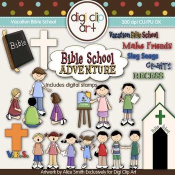 Vacation Bible School -  Digi Clip Art/Digital Stamps - CU