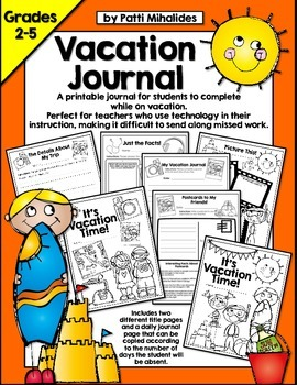 Vacation Journal: A trip package for students in Gr 2-5 to