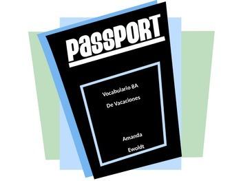 Vacation Vocabulary Realidades 1 Chapter 8A