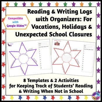 Vacation & Holiday Writing and Reading Logs {No Prep, Prin