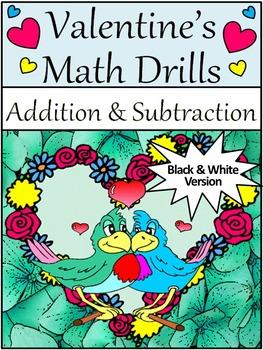 Valentine's Day Worksheets: Valentine's Math Drills for Ad