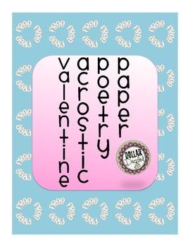 Valentine Acrostic Poetry Paper **Freebie**